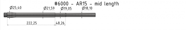 AR15 Light-Weight Match Barrel
