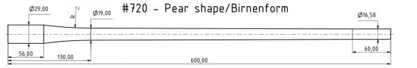 Contoured blank Cr-Moly Steel | 7x57 | MuD:16.5 mm | L:602 mm | ord. nr. 1247