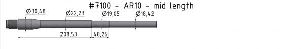 AR10 Mid-Weight Match Barrel