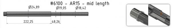 AR15 Mid-Weight Match Barrel + BE + GP