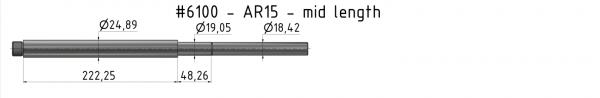 AR15 Mid-Weight Match Barrel