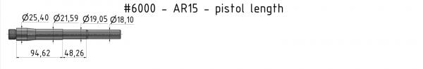 AR15 Light-Weight Match Barrel