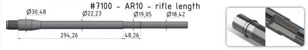AR10 Mid-Weight Match Barrel + BE + GP