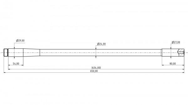 Match Barrel STAINLESS | .222Rem | MuD:27 mm | L:650 mm | ord. nr. 1259